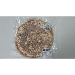 Pizza de conill amb ceba. Envasada al buit