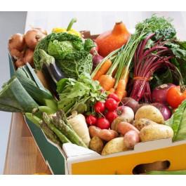 Cistella Gavarres Familiar amb fruita i verdura ECO