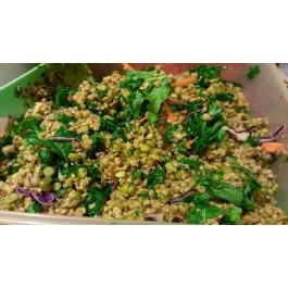 Amanida de llenties amb col Kale i fruits secs