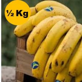 Plàtan ecològic ½kg Canaries